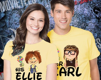 UP Carl and Ellie Couples Disney T Shirt