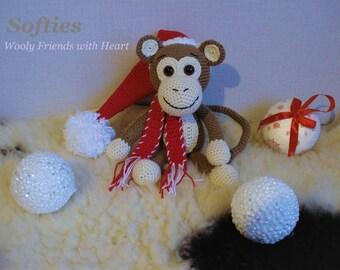 The Christmas Monkey, amigurumi