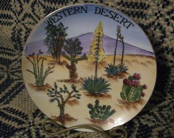 souvenir plate  western desert free shipping in u s a