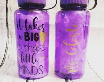 Personalized Teacher Water Bottle  (34 oz)