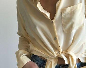 silk button up