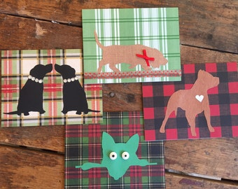 Dog Silhouette Greeting Cards (8) - set of 8