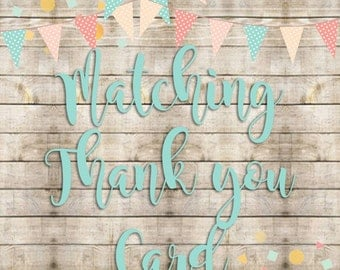Matching Thank You Card  Add-on -- DIGITAL FILE
