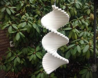 """16 """" handmade wooden wind spinner garden spinner yard spinner wood spinner"""