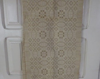 antique hand made on LOOM MACHINE large linen towel / between late 19th -  early 20th