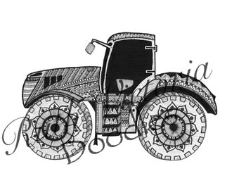 Tractor - A4 Print