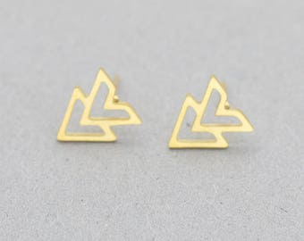 Earrings gold plated Sonia arrow minimalist chic woman sign