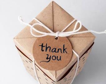 100 Favor box tag, thank you tag, Favor box, wedding tag, birthday gift tag, cupcake topper