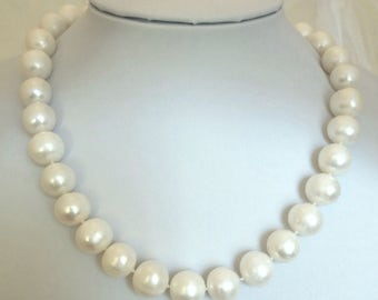Cultured Freshwater 11mm near round Pearl Princess Necklace
