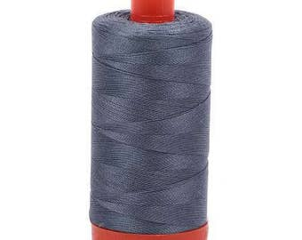 Aurifil Mako Cotton Thread Solid 50wt 1422yds Dark Grey