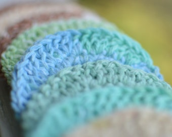 100% Natural Cotton 3 Inch Round Facial Cloths; A gentle alternative to harsh towels and wash cloths