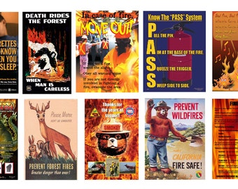 scale model fire safety prevention posters