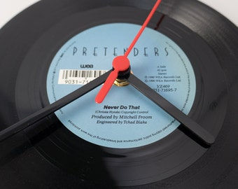 "Pretenders - 'Never Do That' 7"" Record Clock"