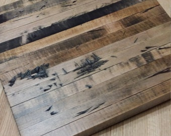 Rustic Beet Maple Edge Grain Cutting Board