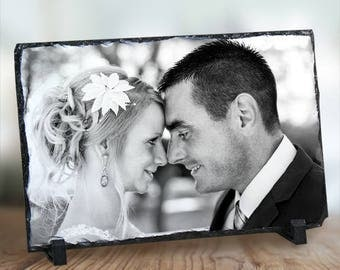 Personalized Picture Perfect Wedding Photo Stone Keepsake Custom Name Gift