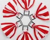 Red & White Stripes Paper Clip