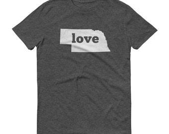 Nebraska Shirt, Nebraska TShirt, Nebraska Love Shirt, Nebraska Tee, State Pride, Nebraska Gifts, State, Nebraska Map, Shirt, TShirt, Tee, NE