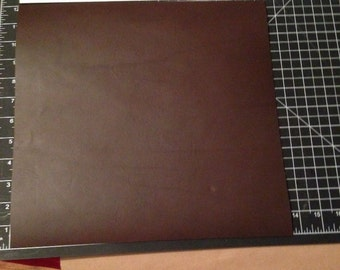 Dark brown Wicket and Craig Bridle Leather Panel 3 - 4 oz about 12 x 12 inches