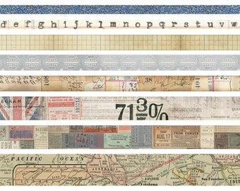 Tim Holtz Idea-0logy Design Tape 8/Pkg - Journey 93358