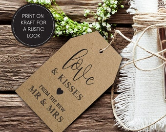 Thankyou Wedding Favour Tags/ Printable/ Rustic Wedding Tag/ Gift Tag/ Rustic Wedding Printable/ Wedding Favour/ Elizabeth Suite #049-13