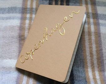 Customised Gold Lettering Notebook
