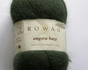 Rowan Angora Haze, 3 balls, grey-green.