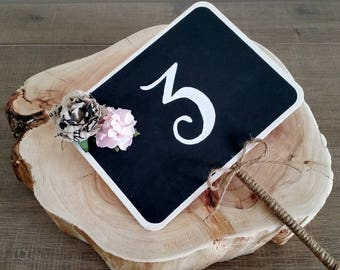 Table Numbers, Chalkboard Table Numbers, Chalkboard Table Stands, Table Decorations, Rustic Boho Weddings