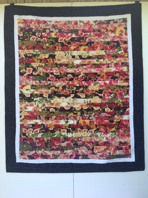 Homemade Strip personal Nap Quilt