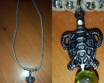 All Natural Hemp Necklace with Turtle