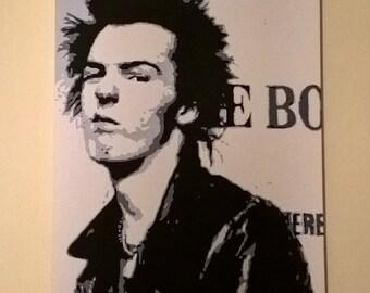 30x20 inch Sid Vicious canvas print