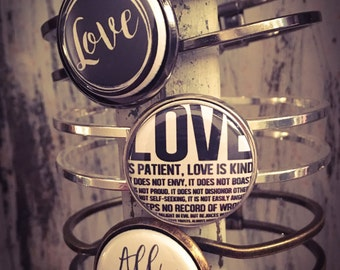 Love Bracelet, Valentine Bracelet, Corinthians, All You Need is Love, Bracelet, Love is Patient, Bracelet Valentine, Love is Kind, Jewelry
