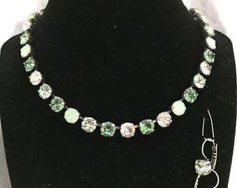 Homemade Swarovski Necklace and Earrings