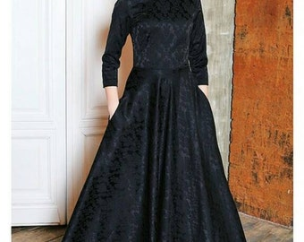 Jacquard maxi dress, long dress, Evening dress, custom made dress, custom made maxi dress, Maxi dress for party, party dress