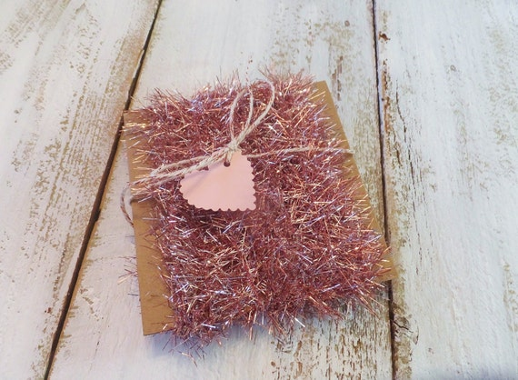 Pink tinsel garland easter spring vintage style dyi