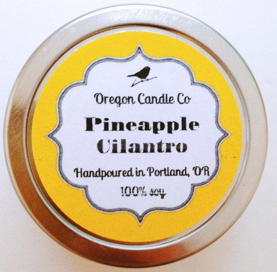 Pineapple Cilantro  >> 2 oz soy candle