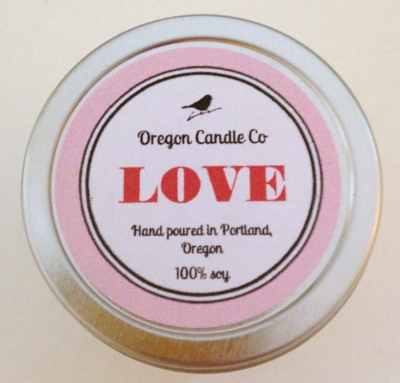 Valentine's Day>>LOVE >> Soy candle