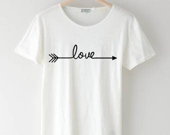 Love Arrow Graphic T Shirt | Rustic T shirt | Ladies T shirt | Valentine's Day T shirt | Graphic T shirt | Love T shirt | Statement T shirt