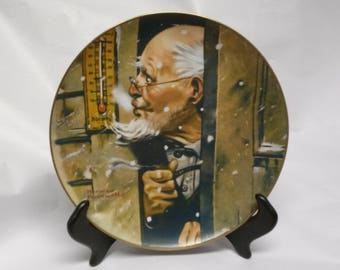 Old Man Winter Collectors Plate