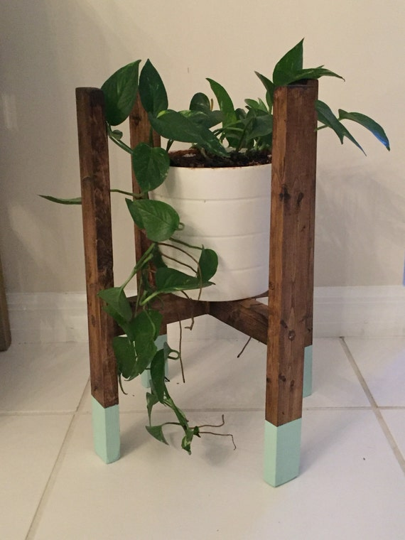 Items similar to solid wood decorative plant stand rustic