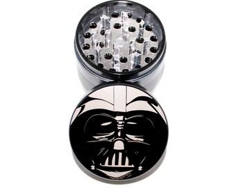 Darth Vader Inspired Grinder - Star Wars Metal Herb Grinder - Dark Side 4 Piece Herb Grinder - Weed Grinder