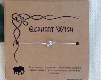 Elephant Bracelet Friend Wish Bracelet Elephant Wish Bracelet Elephant Jewelry Elephant Charm Friendship String Wish Bracelet