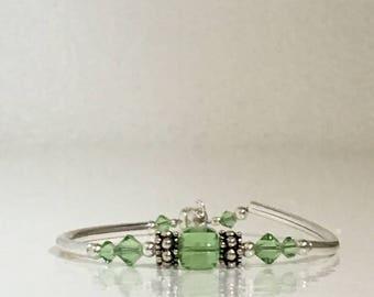 Swarovski Light Green Bracelet