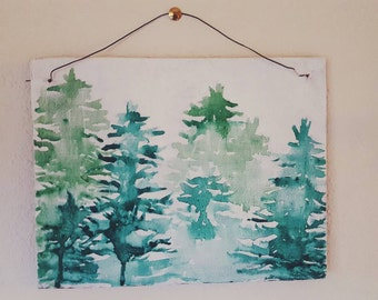 Evergreen Watercolor