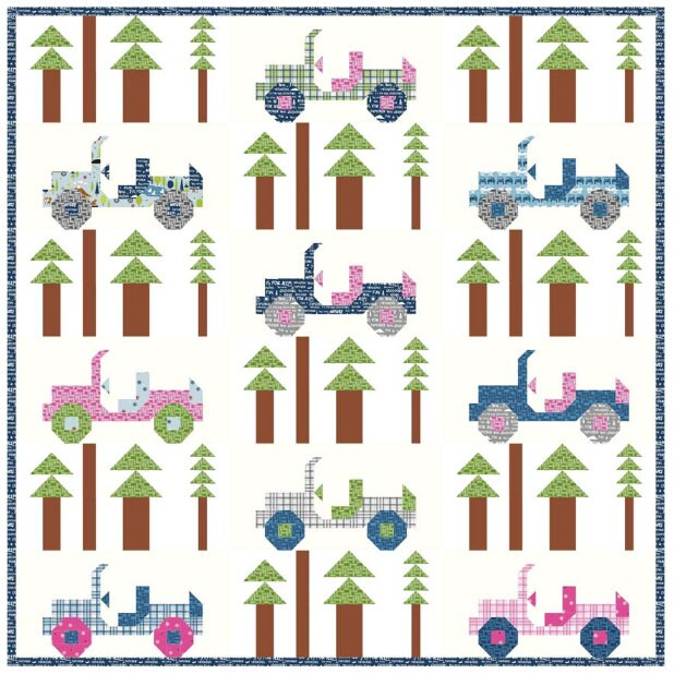 Jeeps Quilt Pattern By Kelly Fannin From Swatchesfabrics
