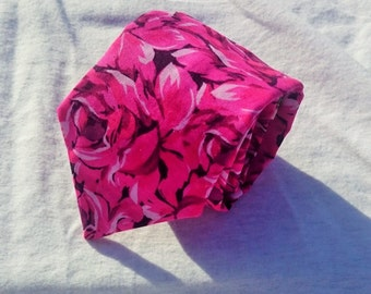 Pink Roses Necktie, Rose Necktie, Flower Necktie, Pink and White Necktie, Full bloom Necktie