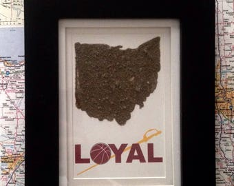 Cleveland Cavaliers-Ohio Dirt Map