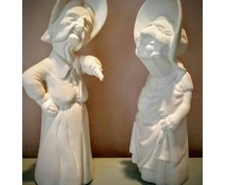 Vintage Specialty Molds 1984 Marked 2 Old Ladies Ready To Paint