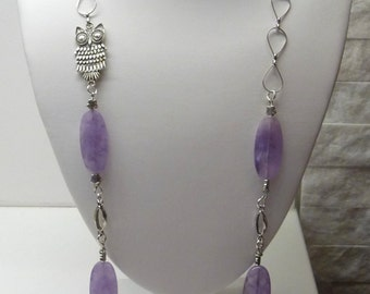 Handmade necklace with lilac amethyst
