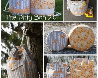 Ditty Bag 2.0 Pattern - The Everything Bag PDF Sewing Pattern Toiletry Bag Travel Bag  RLR Creations