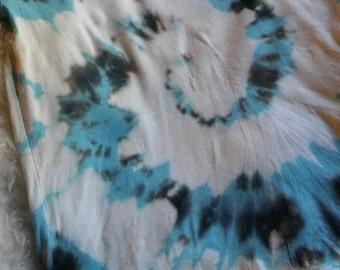 Blue, Black, and White Tye Dye